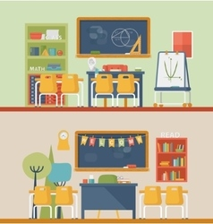 Classroom for literature and mathematics vector
