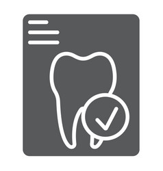 Dental tooth report glyph icon stomatology vector