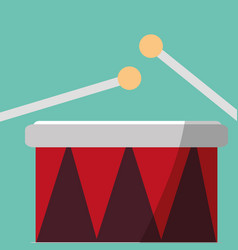 drums icon image vector image