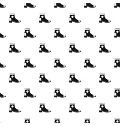 Female boot pattern simple style vector