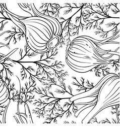 fennel seamless pattern vector image