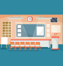 Flat of a business interior vector
