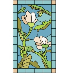 Floral Stained Glass vector