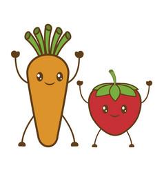 Fruits cartoon icon vector