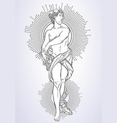 greek god the mythological hero of ancient greece vector image