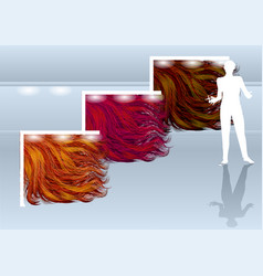 Hairdressing salon concept vector