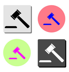 hammer judge flat icon vector image