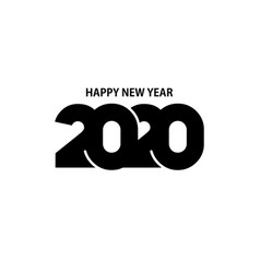 happy new year 2020 logo text design vector image