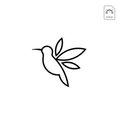 humming bird logo design icon element isolated vector image