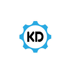 initial letter logo kd template design vector image