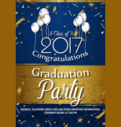 Invitation to graduation party vector