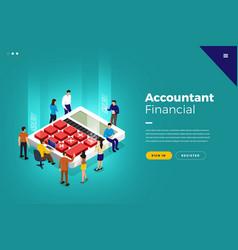 Isometric financial accountant vector