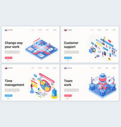Isometric work technology optimization vector