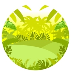 Jungle Flat Background14 vector image