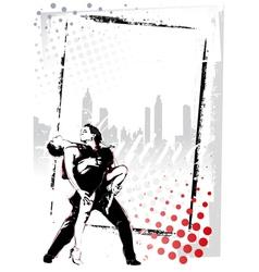 latino dancing poster vector image