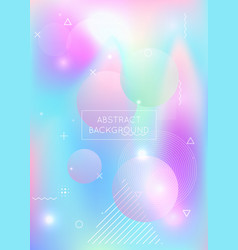 liquid shapes background with dynamic fluid vector image