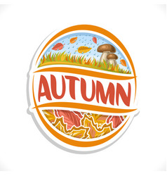 Logo for autumn season vector