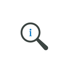 magnifying glass icon info icon vector image