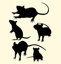 Mice rat mouse animal gesture silhouette vector