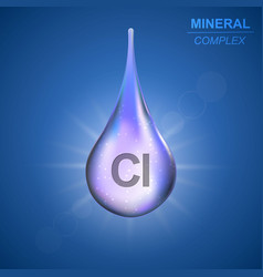 mineral complex background vector image
