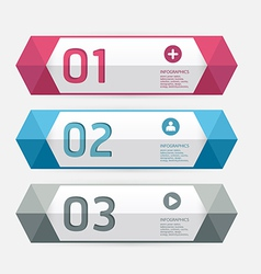 Modern Design template numbered banners vector image vector image