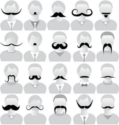 Moustaches set mustache icons vector image