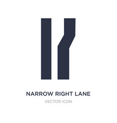 Narrow right lane icon on white background simple vector