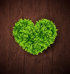 Natural background with wooden board and heart vector image