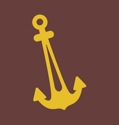 nautical anchor isolated background ship anchor vector image
