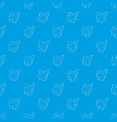 observatory pattern seamless blue vector image