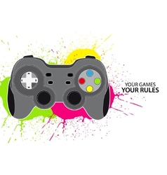pc or console controller vector image
