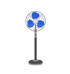pedestal fan floor ventilator vector image