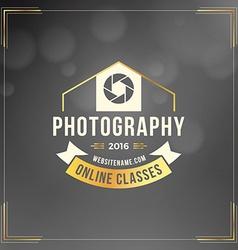 Photography logo design template retro vector