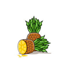 Pineapple fruit icon vector