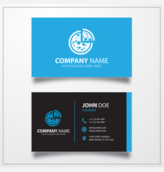 Pizza icon business card template vector