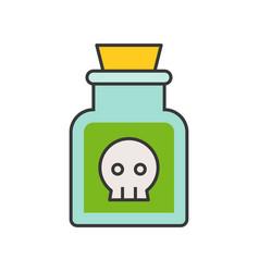 potion or poison in jar voodoo black magic vector image