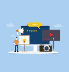 Professional tutorial training development or vector