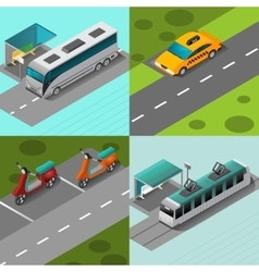 Public Transport Set vector