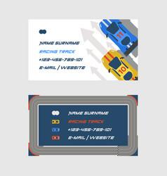racing track road car sport track set business vector image