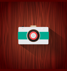 retro camera flat icon for web design and mobile vector image
