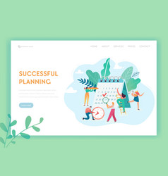 schedule management business planning landing page vector image