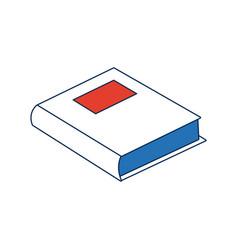 school book literature study supply vector image