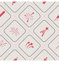 Seamless background with firework icons for your vector image