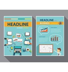 set magazine cover flyer brochure flat design vector image