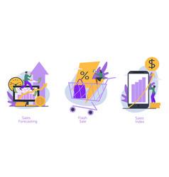 set three revenue management concepts vector image