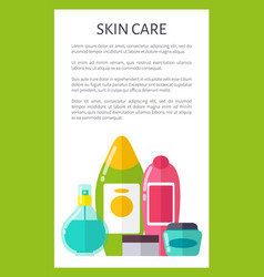skin care means vertical advertisement banner vector image