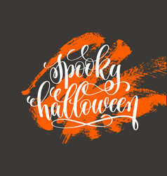 Spooky halloween hand lettering holiday vector