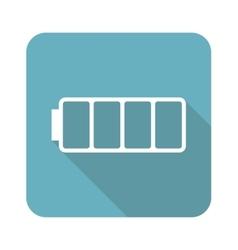 Square empty battery icon vector