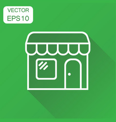 store market icon business concept shop build vector image