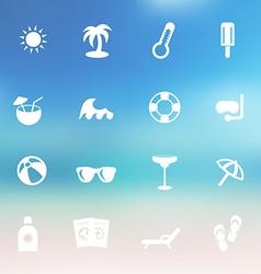 summer icon set vector image
